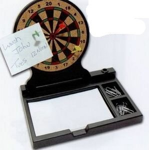 Dart Board Office Memo Tray W/ 3 Darts by MTD