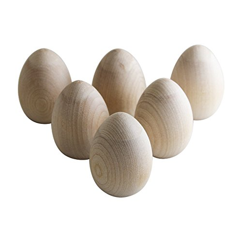 Unpainted Wooden Eggs Displays Woodpeckers