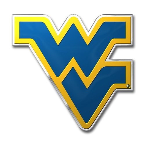 NCAA West Virginia Mountaineers Die Cut Color Automobile Emblem (Stores In West Virginia)