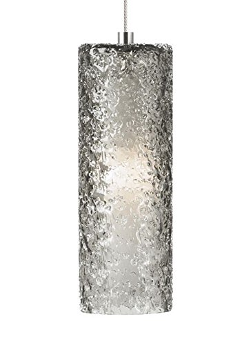 (Tech Lighting 700MPRCKKS Mini Rock Candy - One Light Monopoint Cylinder Pendant, Satin Nickel Finish with Smoke Glass)