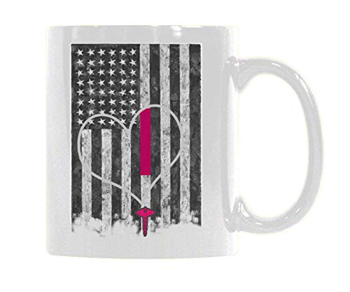 COL DOM Nurse Coffee Mug Pediatric Nurse Mug American Flag Personality Design Ceramic Coffee Mug Funny Mugs For Coffee Tea Milk Gifts Customized Mug 11 OZ -