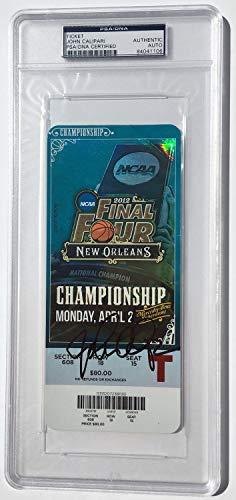 PSA/DNA Authentic Kentucky Wildcats John Calipari Autographed Signed Championship Ticket