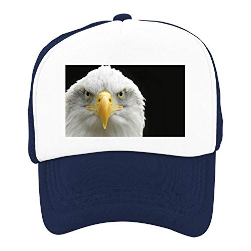 Kids Girls Boys Mesh Cap Trucker Hats Eagle Adjustable Hat Navy by EThomasine