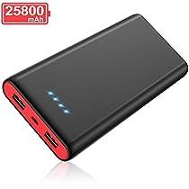 モバイルバッテリー 25800mah 大容量 PSE認証済 急速充電 2US...