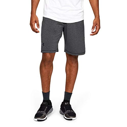 Under Armour Men's Raid 10-inch Workout Gym Short, Carbon Heather (090)/Black, X-Large