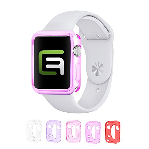 - Eco-Fused TPU Case Value Bundle Compatible with 38mm Apple Watch/Watch Sport/Watch Edition/Including 5 Flexible TPU Cover Cases for All Apple Watch Versions