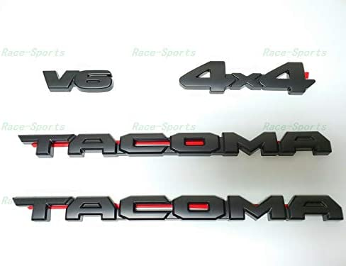Weekeight 4PCS Weekeight Fit FOR 2016-2019 Ta Blackout Emblem Overlays ABS Plastic PT948-35180-02
