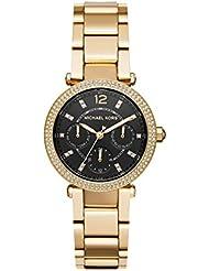 Michael Kors Womens Mini Parker Quartz Stainless Steel Casual Watch, Color:Gold-Toned (Model: MK3790)