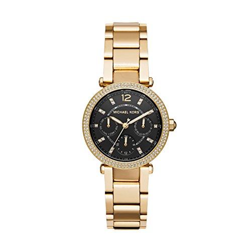Michael Kors Women's 'Mini Parker Watch' Quartz Stainless Steel Casual, Color:Gold-Toned (Model: MK3790)