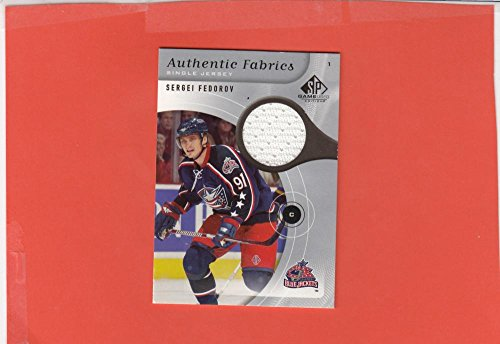 2005-06 SP Game Used Edition Authentic Fabrics #AF-SF Sergei Federov NM-MT+ MEM from SP Game Used Edition