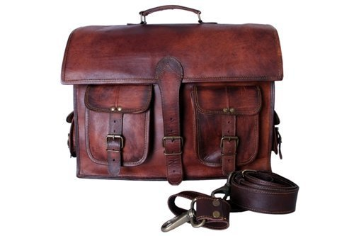 Kool Leather , Borsa Messenger  marrone Brown
