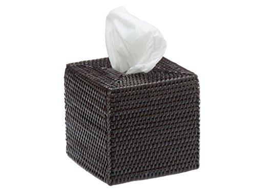 (KOUBOO 1030019 Square Rattan Tissue Box Cover, 5.5