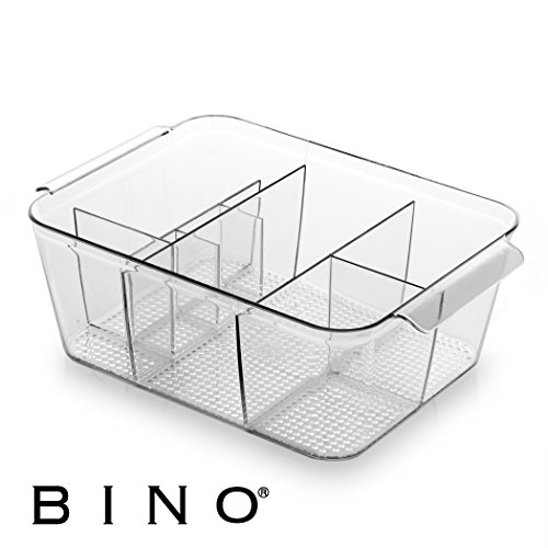BINO Multi-Purpose Plastic Drawer Organizer, 9-Section Deep