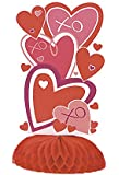 "6"" Mini Red Heart Valentine's Day Centerpiece Decorations, 4ct"
