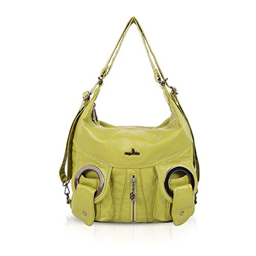 Grass NICOLE amp; Casual Green Slouch Bags Women Handbags Totes DORIS Pockets Bags Purses Multiple Hobo AgAOqfTxw