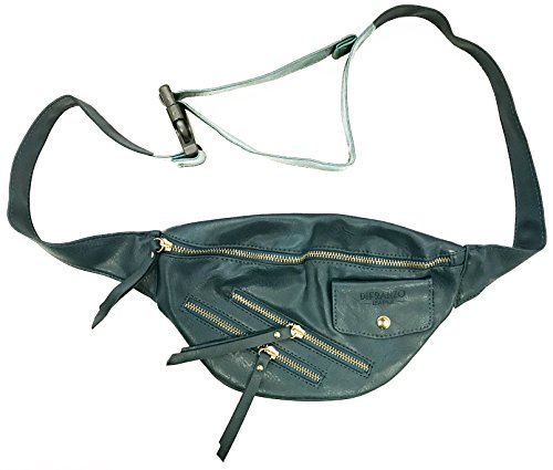 DiFranzo Leather Fashion Fanny Pack Waist Bag / Organizer