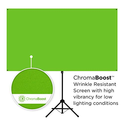 Valera Explorer 70 Inch Portable Green Screen for Streaming and Videos - Mounts on Tripod and Wall | Only 8 lbs | 2 min Setup | 16:9 Format | ChromaBoost Fabric with High Vibrancy for Low Lighting by On the Go Screens (Image #4)