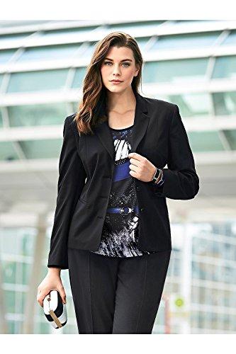 Ulla Popken Women's Plus Size Classic Timeless Stretch Blazer Black 18 696928 10