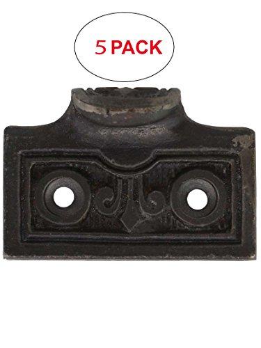 House of Antique Hardware R-09MG-209-AI-5 Fleur-de-Lis Cast Iron Sash Lift in Antique Iron (5 Pack) (Lift Iron Sash)