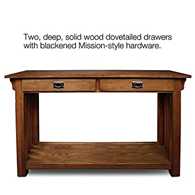 Leick Furniture Mission Sofa Table, Medium Oak