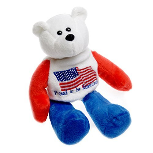 Proud to be American US Flag American Patriotic Plush Stuffed Teddy Bear Doll (8.25