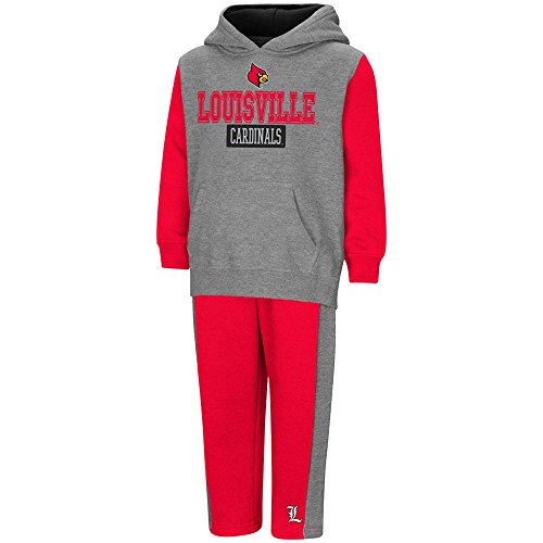 Colosseum Toddler Louisville Cardinals Pull-Over Hoodie and Sweatpants Set - 4T