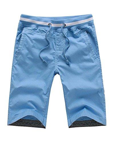 (Wxian Men's Summer Comfortable Casual Shorts)