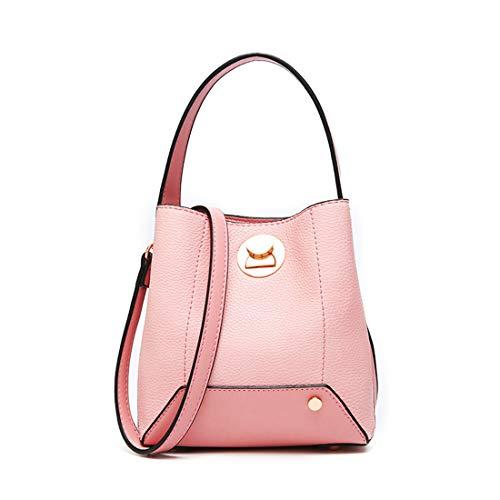 Con color Borsa E Fodera Da In Donna Pink Pink Vimini Klerokoh Tracolla A Messenger wTAyPaPqYx