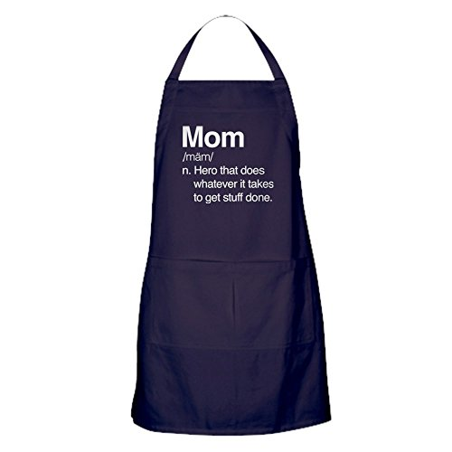 - CafePress Mom Hero Dark Kitchen Apron with Pockets, Grilling Apron, Baking Apron