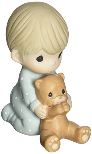 Precious Moments 152002 I Pray The Lord My Soul to Keep, Bisque Porcelain Figurine, Boy ()
