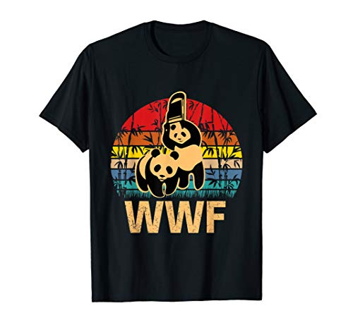 (Panda Bears wwf's Sunset Vintage Funny T-shirt Men Women)