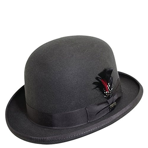 Scala Men's Wool Felt Derby Hat, Charcoal, Large ()