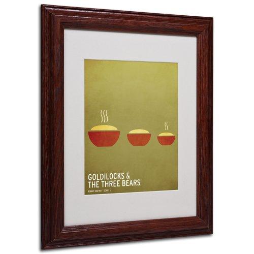 Gold Ornate Frameilocks Artwork by Christian Jackson in Wood Frame, 11 by 14-Inch by Trademark Fine Art