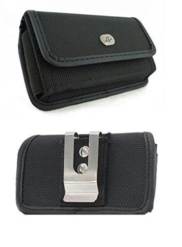FYL Rugged Canvas Case Pouch Holster w Clip for Sprint/US Cellular LG G Flex2 Flex 2 (G-flex Canvas)