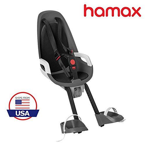 Hamax Observer Front Child Bike Seat (Grey/White)