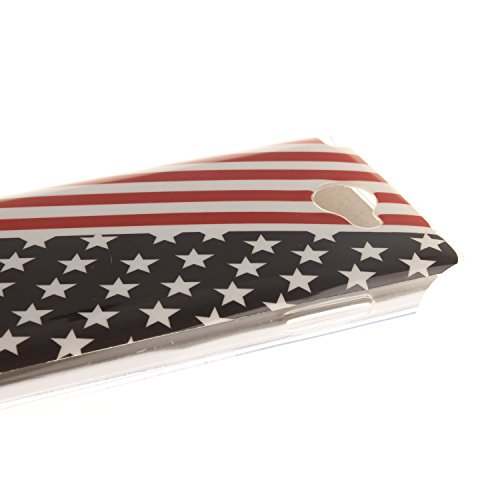 LG Bello 2 Funda,Ligero a Prueba de Choques Flexible Ultra Fino Suave TPU Parachoque Carcasa MAGQI Tecnología IMD Diseño Impreso Vendimia Serie Patrón [Absorción de Impacto] Resistente a los Arañazos  Bandera