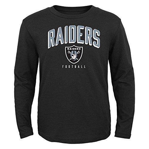 NFL Oakland Raiders Toddler Arch Standard Long Sleeve Tee Black, 2T