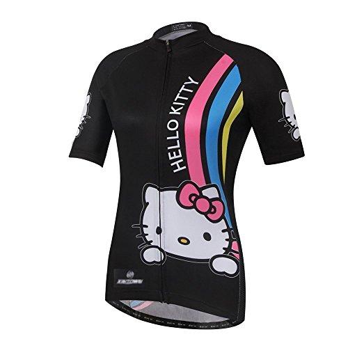 Cplus Sportware Women Short Sleeve Hello Kitty Cycling Jersey Top M ()