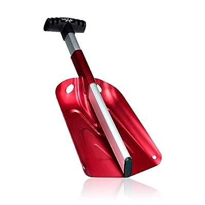 FridLife Snow Shovel, Portable Camp Shovel, 2 Piece Collapsible Hand Shovel, Utility Shovel for Your Car, Aluminum, Red
