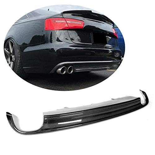 (MCARCAR KIT For Audi A6 Sedan Non-Sline Non-S6 2013 2014 2015 Customized CNC Moulding Top Fit Rear Bumper Lower Diffuser)