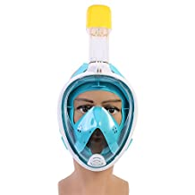 Snorkel Scuba Diving 180 Degree Full Face Mask Anit-Fog Easy Breath Swimming Surface Scuba Dive Mask For Gopro for Adults and Kids