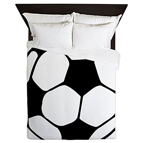 CafePress - Soccer Football Black White - Queen Duvet Cover, Printed Comforter Cover, Unique Bedding, Microfiber by CafePress