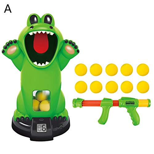 Weemoment Educational Air-Powered Toys Kids Crocodile Shooting Toy Safety Innovative Animal Shooting Squeeze Toys Stress Relief Creative Toy Puzzle ()