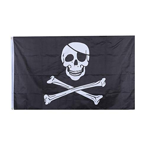 Professional Huge Feet Skull And Cross Crossbones Sabres Swords Jolly Roger Pirate, Pirate Flag Huge - Small Flag, Giant Pirate Flag, Ft Sword, Pirate Flag, Skull And Crossbone Flag (Jolly Roger Toothpicks)