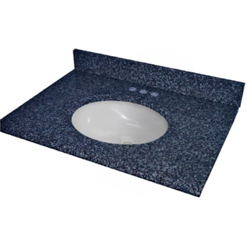 22' White Bowl (Pegasus PE37905 37-Inch Blue Pearl Granite Vanity Top with White Bowl and 8-Inch Spread)