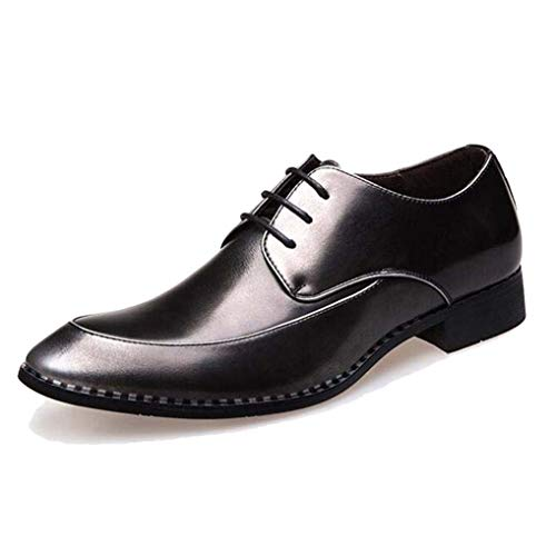 Starttwin Men's Dress Shoes Casual Lace-Up Breathable Wedding Oxford Shoes Plus Size ()