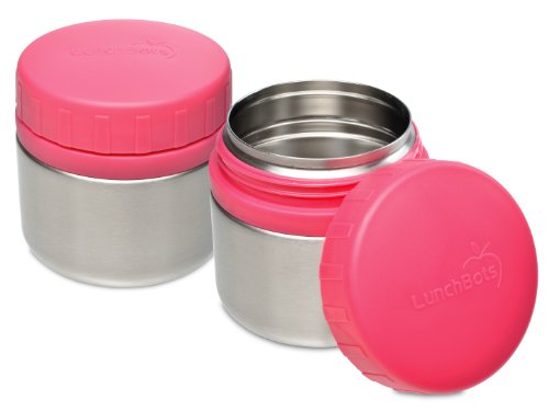 LunchBots Rounds Leak Proof Stainless Steel Food Containers, 8 oz., Set of 2