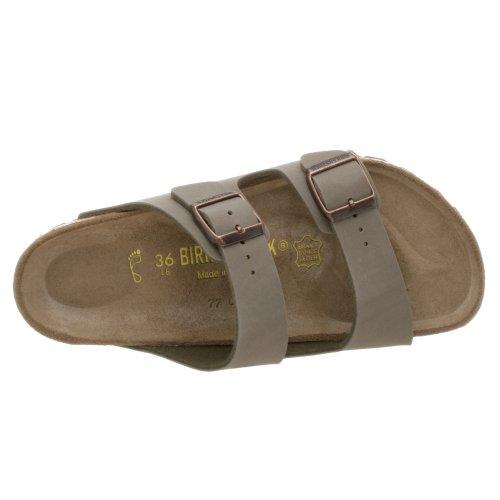 Birkenstock Arizona Mujer Gris claro Piel Sandalias Zapatos Nuevo EU 38