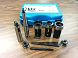 Tailstock Die Holder Set MT2 & MT3, External Thread Cut, 5 Holders #IN-GDH016I