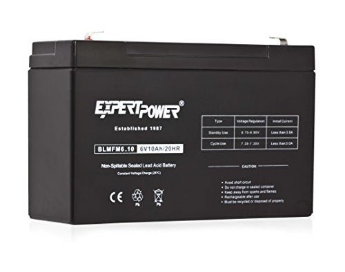 INTERSTATE ALL BATTERY CTR 6V 10A Lead Acid Internal Battery